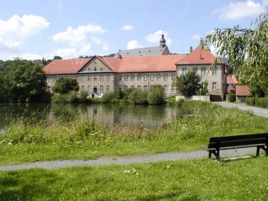 Lamspringe Blick auf die Klosteranlage Im Hintergrund die barocke Klosterkirche