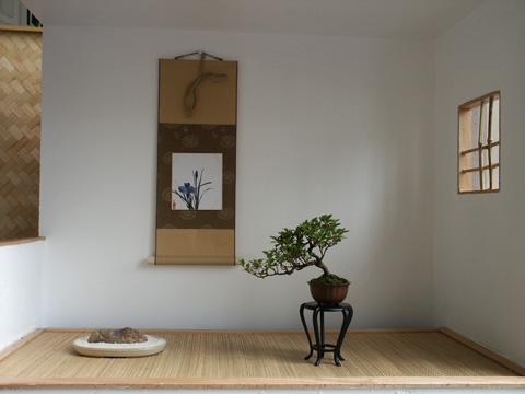 Klassische Präsentation (Dreiklang z.B. Bonsai, Suiseki