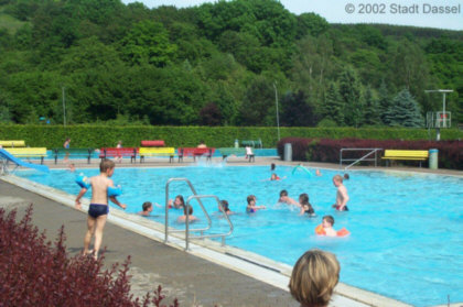 Blick ins Freibad in Dassel