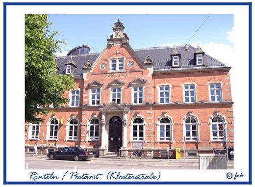 Das Hauptpostamt in der Klosterstraße in Rinteln
