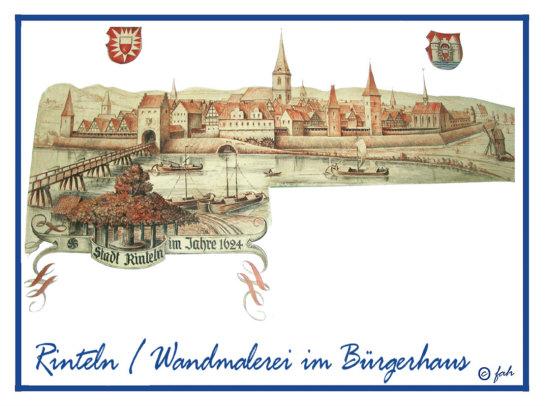 Wandmalerei aus dem Bürgerhaus / Marktplatz in Rinteln