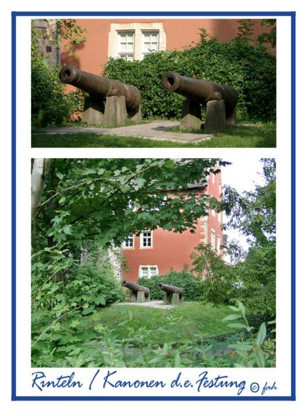 Rinteln - Kanonen der ehemaligen Festung