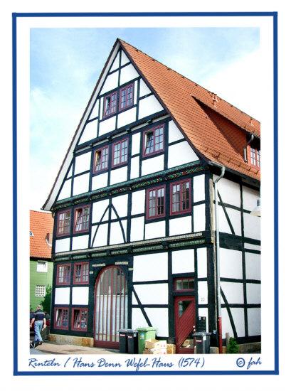 Rinteln - Hans Denn Wefel Haus in der Krankenhäger-Str. von 1574