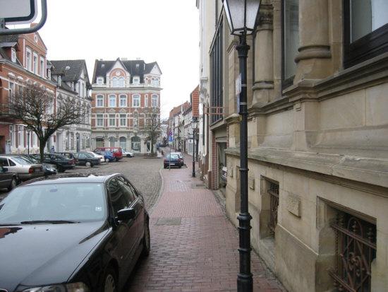 Ein Blick in die Neue Marktstraße in Hameln