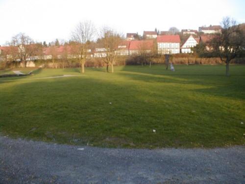 Lamspringe Klosterpark Flecken Lamspringe mit Blick auf Fachwerkhäuser der Hauptstraße