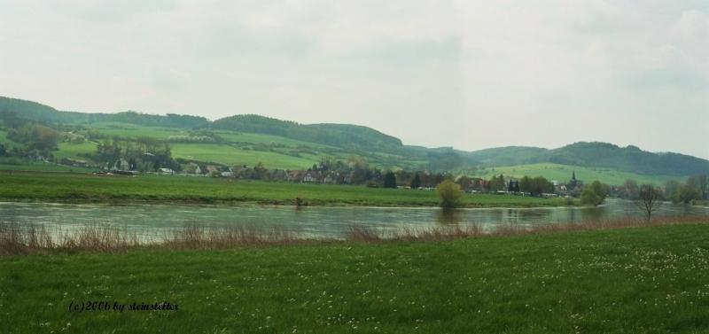 Weserpanorama Auf dem Radweg von Forst nach Polle mit Blick auf Heinsen Bettina Stein- Stelter Weserpanorama Auf dem Radweg von Forst nach Polle mit Blick auf Heinsen