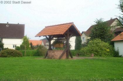 der Dorfplatz in Portenhagen