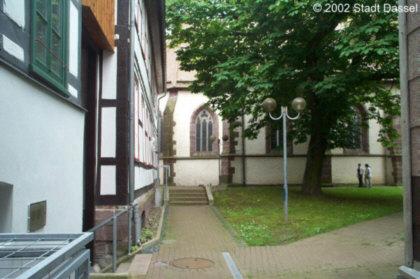 Ansicht vom Kirchplatz in Dassel