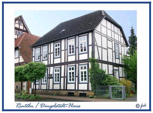 Das Franz von Dingestedt-Haus in der Ritterstraße in Rinteln. In diesem Haus wohnte Franz von Dingelstedt - der Dichter des Weserliedes : Hier hab ich so manches liebe Mal mit meiner Laute gesessen......