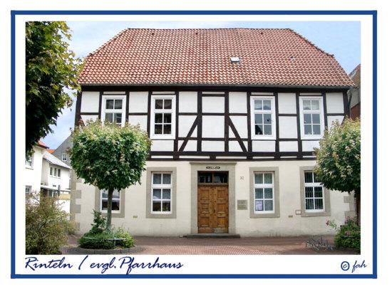 Rinteln - Das evgl. Pfarrhaus in der Brennerstraße