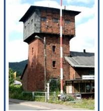 Rinteln / ehemaliger Wasserturm für Dampfloks am Rintelner Bahnhof.