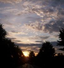 Sonnenaufgang in Rinteln