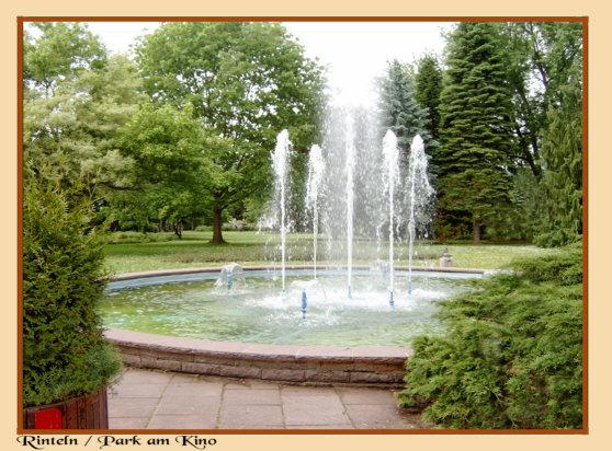 """Rinteln - Diese schöne Parkanlage befindet sich in der Nähe der """"T-Kreuzung"""" beim Kino"""