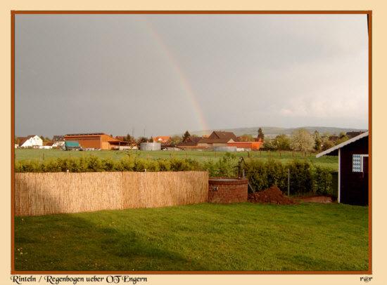 Rinteln - Ein schöner Regenbogen über den OT-Engern