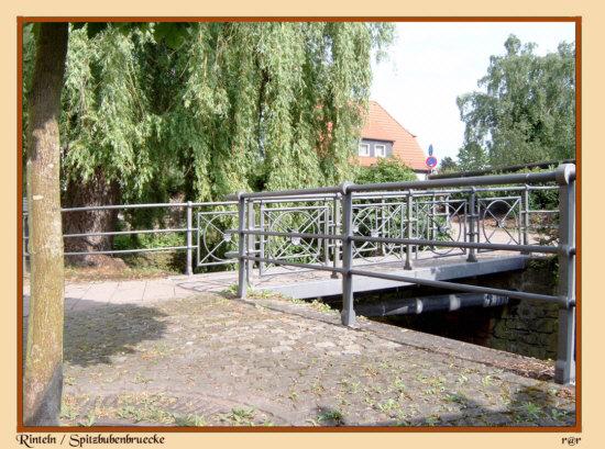Rinteln - Die Spitzbubenbrücke verbindet die Krankenhäger Strasse mit dem Dingelstedtwall