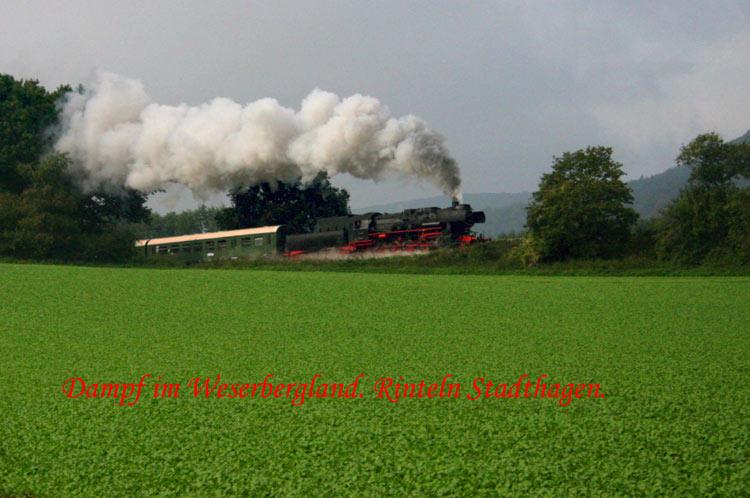 Dampf im Weserbergland Von Rinteln nach Stadthagen